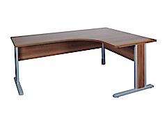 Sarok íróasztal fémlábas