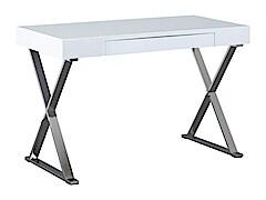 Fehér magasfényű íróasztal