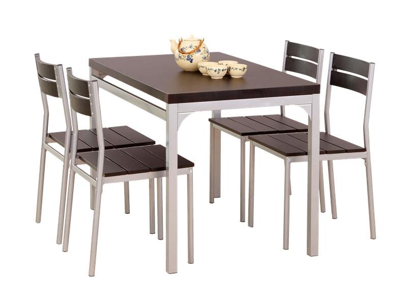 fém vázas szék asztallal étketö
