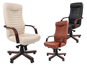 Modern, elegáns stílusú főnöki fotel fekete és drapp színben