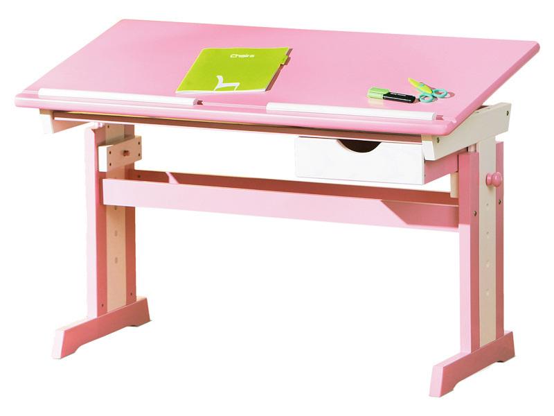 Állítható magasságú, dönthető gyerek íróasztal lányoknak