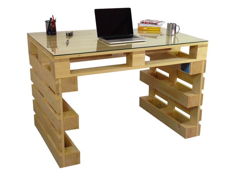 Fenyő íróasztal szekrénnyel