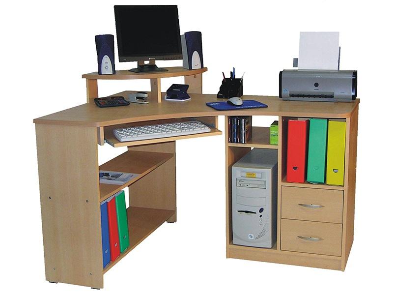 Fiókos sarok számítógépasztal